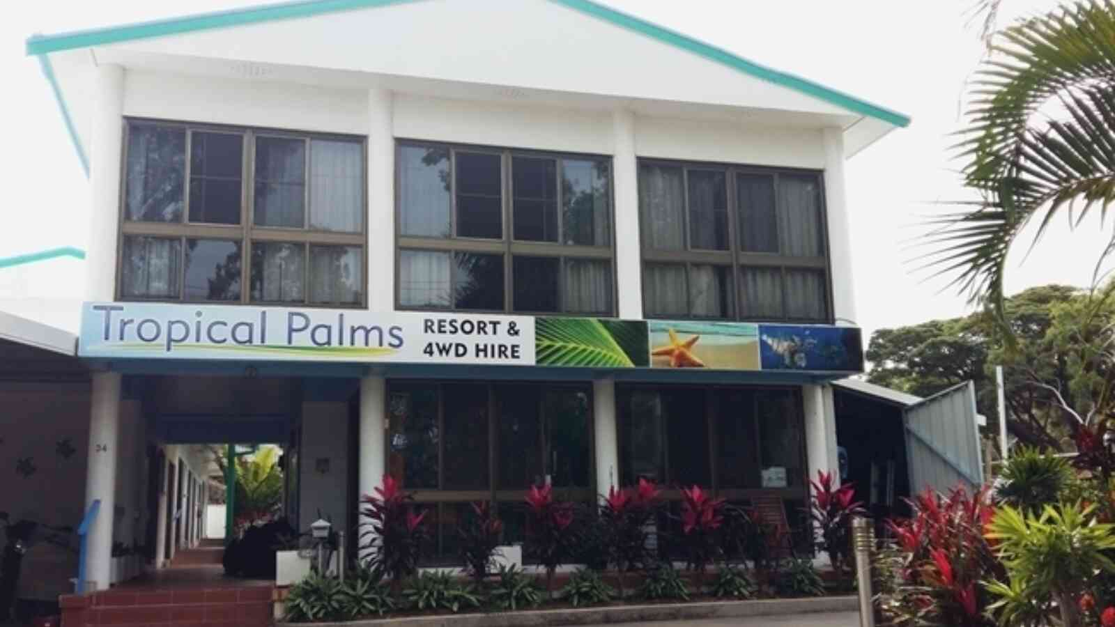 Tropical Palms Entry