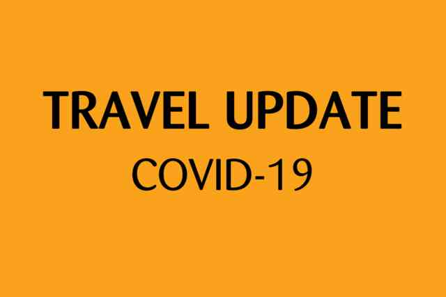 Travel Update COVID-19